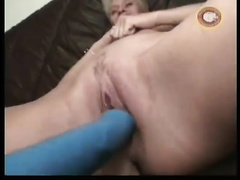 Spectacled nerdy buddy licks sexy love tunnel and plays with it