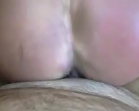 I fuck this chick's asshole truly hard until I cum in her butt