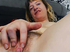Nasty Amateur Lesbians Licking Hairy Pussy