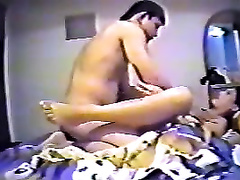 Short haired Hindu dark brown gives BJ and acquires nailed mish by BF on webcam