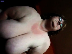 Extremely breasty big beautiful woman white wife gives me fleshly blowjob