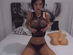 Ultra hot webcam wench is having pleasure with her recent sex toy