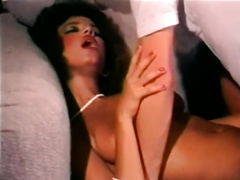 Horny and impure whore with wonderful body gives a tugjob and receives fucked
