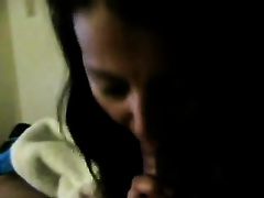 Awesome blowjob from an non-professional Desi milf for her hubby