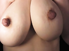 Freaky big teats of this slutty wife look like tiny love muffins