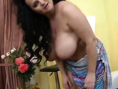 Deliciously thick wife with large soaked tits truly knows what excites me