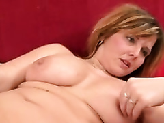 Sexy light haired mature squats down and sucks the BBC