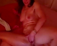 Webcam dark brown fingers her cunt and slams her butt with a sex-toy