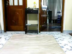 Dark skinned Srilankan pair enjoys spooning on cam