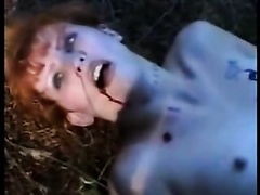 Helpless redhead endures beating and sex in brutal modes