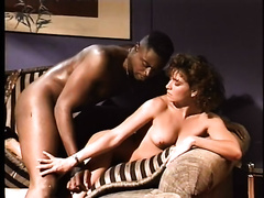 Vintage porn of sexually excited white playgirl getting her bushy twat fucked by BBC