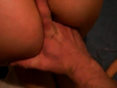 Diddling my curvy Russian babe's constricted cunt with large vibrator