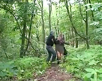Granny kidnapped and raped by strangers in the woods