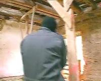 Blonde girl raped in abandoned house by horny stranger
