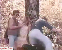 Woman gets raped by strangers into the woods