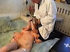 Doctor rapes insane female and forces her to swallow his sperm