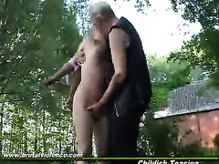 Young blonde raped in outdoor and forced to swallow