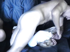 Amateur blonde comes back from school and get raped