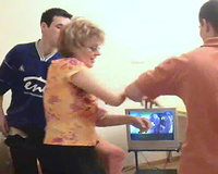 busty mature raped by two younger males in heats
