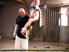 Blondie gets tied up and forced to fuck the carpenter