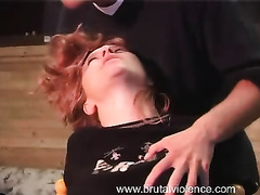 Tied up babe with big boobs forced to suck and fuck