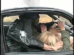 Drunk men rape helpless blonde in brutal modes