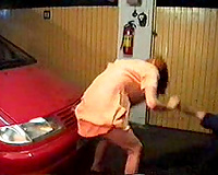 Woman gets raped by a horny mechanic in his garage