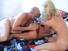 Teen gets called in to join her mom and dad for a rough fuck