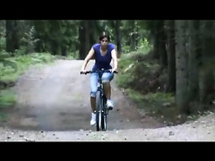 Babe riding a bike ends up being brutally fucked
