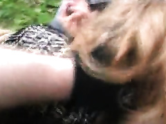 Granny gets captured and rape din the woods by strong dudes