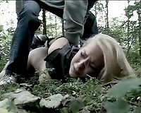 Helpless blonde gets humiliated and raped by a crazy bastard