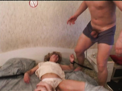 Blonde mature wife attacked by two young dudes and raped brutally