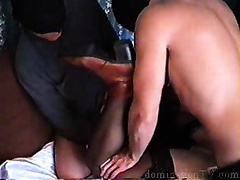 Pretty looking wife gets raped and tortured by two masked dudes