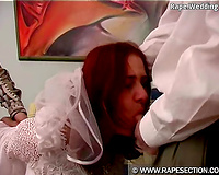 Sexy looking bride got cheated and raped by two horny guys