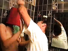 A burglar penetrates a house and rapes a sweet brunette wife