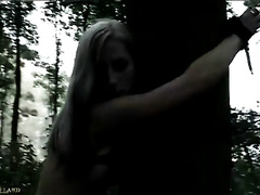 Blonde wife gets tortured and raped in a forest by a stranger