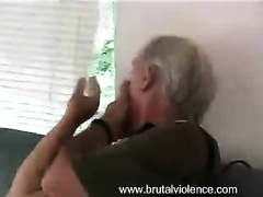 Slender wife in a miniskirt gets caught and raped by an old guy
