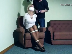 Frightened housewife gets raped by a crazy gangster in her house