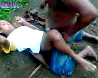 Petite wife gets raped by a brutal black dude on the ground