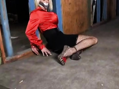 Elegant blonde wife gets attacked and raped by a gangster