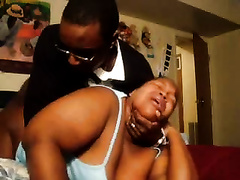 Ebony BBW wife raped nastily from behind by a crazy black dude