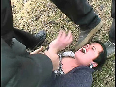 Wife hitchhiker gets raped on the road by two rude villains
