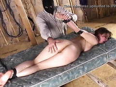 Bound and gagged wife raped by a masked dude in a dirty manner