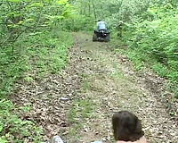 Young brunette wife captured in the woods and raped crazily