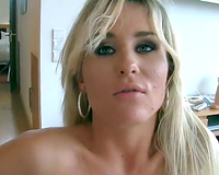 Appealing blonde wife gets anal raped by a crazy dude next door
