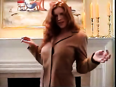 Watch my wife strip, she sexy slutty milf wife baring her big tits while dancing