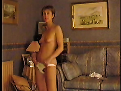 Sexy slutty wife strips for husband friends she naked to rap music