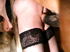 Wife fuck horse this monster leaves a MILF with an anal creampie after ramming her virgin ashole