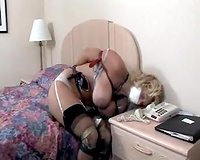 Abused mature wife in black stockings raped in her own house