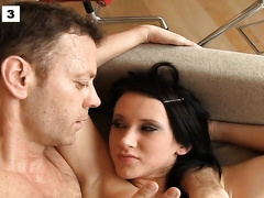 Dudes rape sexy wives and destroy their tight anal holes brutally